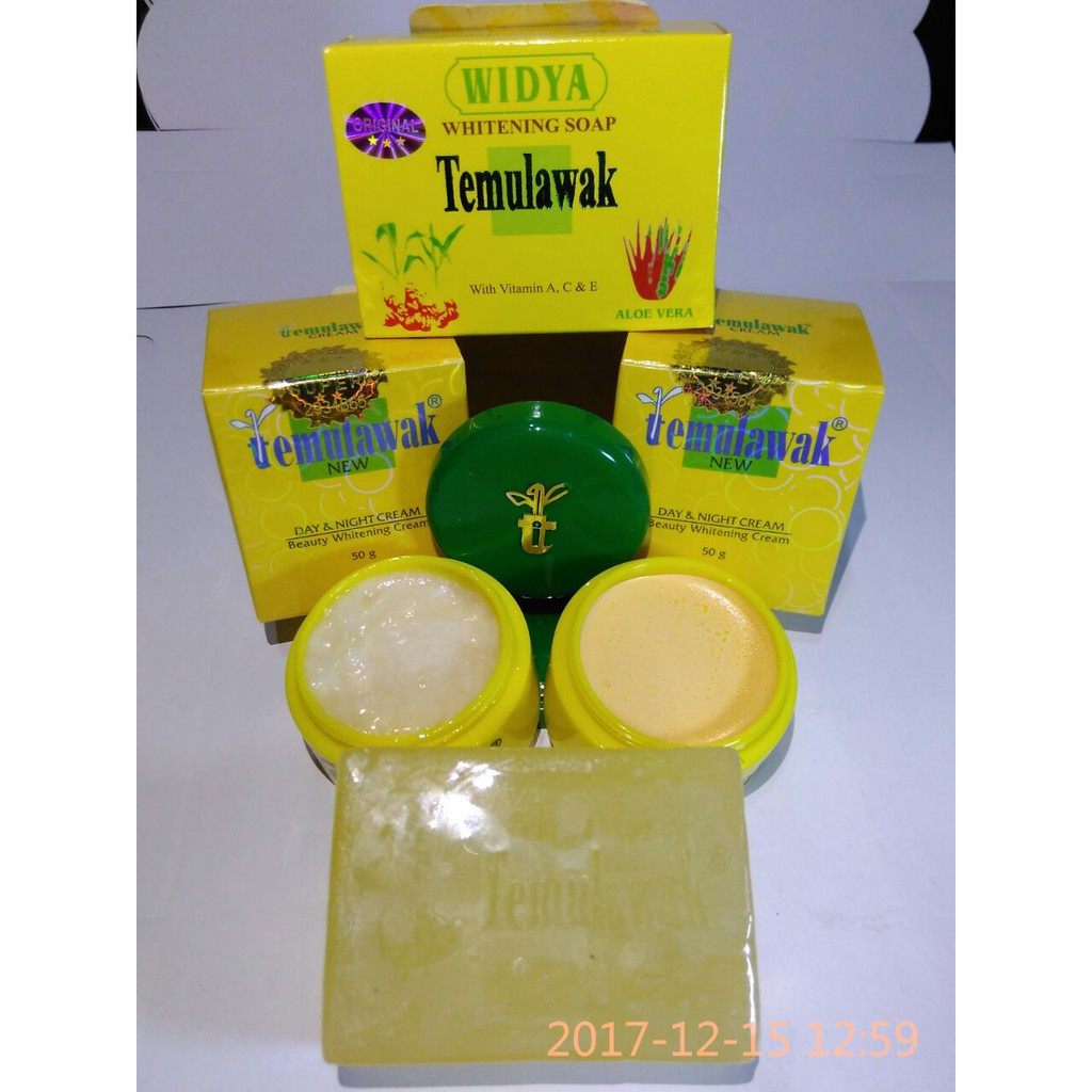 Paket Cream Temulawak Hologram Hijau ( Cream Siang+Malam+Sabun+Toner) |