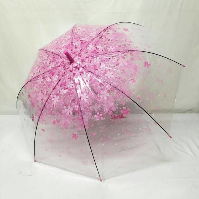 Payung Transparan Bening Umbrella Transparant Payung Panjang Transparant Korea Japan Best Quality   Shopee Indonesia