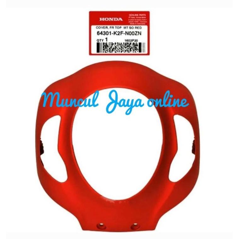64301-K2F-N00ZN Cover Front Panel Tameng Lampu Depan Scoopy eSP K2F 2020 Merah Doff