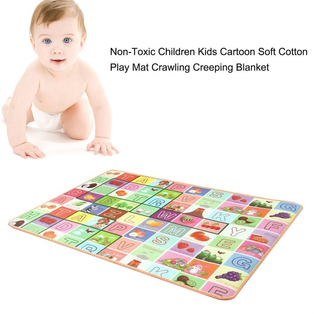84.5x61cm Baby Play Mat Cartoon Crawling Mats Children Kids Game Pad with Pillow