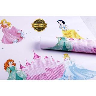 Wallpaper Dinding Kamar Anak Princess Disney Pink Wps770 Wallpaper Sticker Kartun Dekorasi Kamar Shopee Indonesia