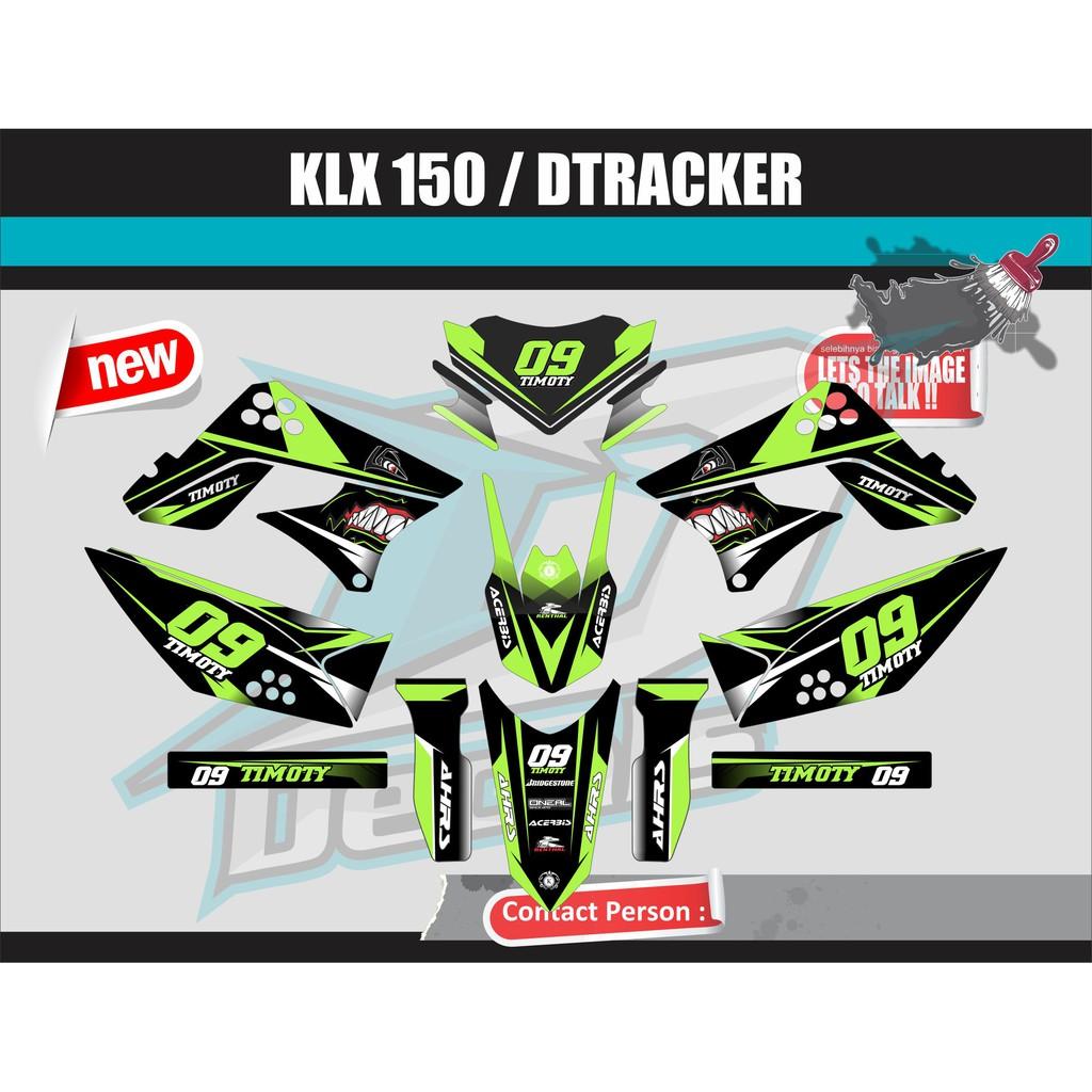 Decal stiker klx 150 dtracker shopee indonesia