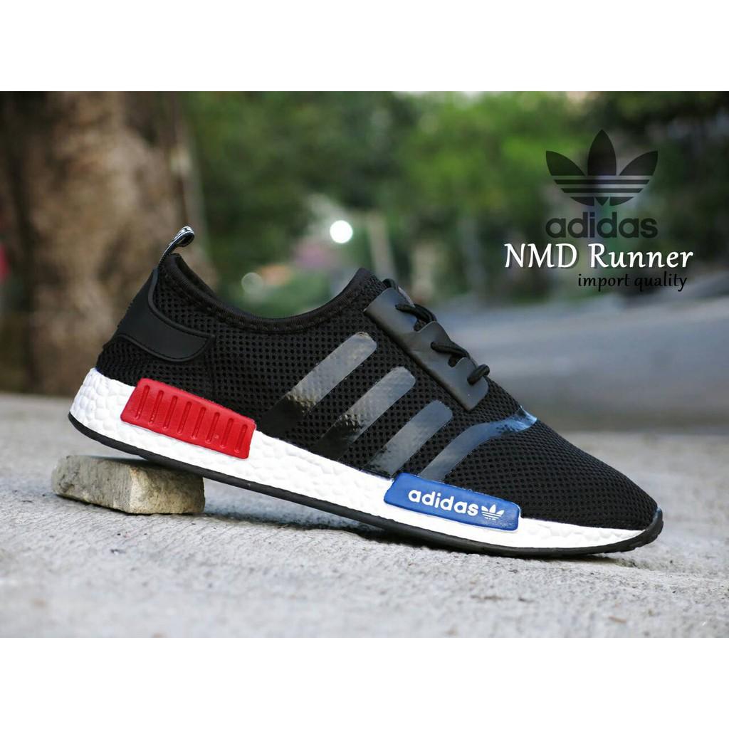 Sepatu Sport Adidas NMD Runner Import Full Hitam   olahraga gym runing  8e5882a94c