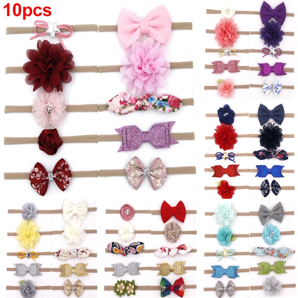 Newborn Babies Flower Headband Girls Hair Band Elastic Floral Bow-knot Hair Cute