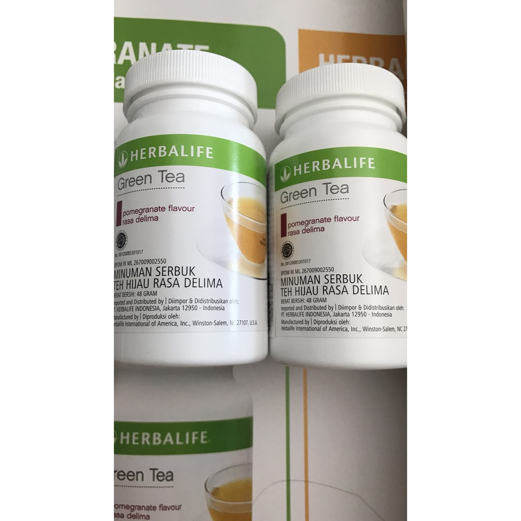 herbalife green tea pomegranate delima