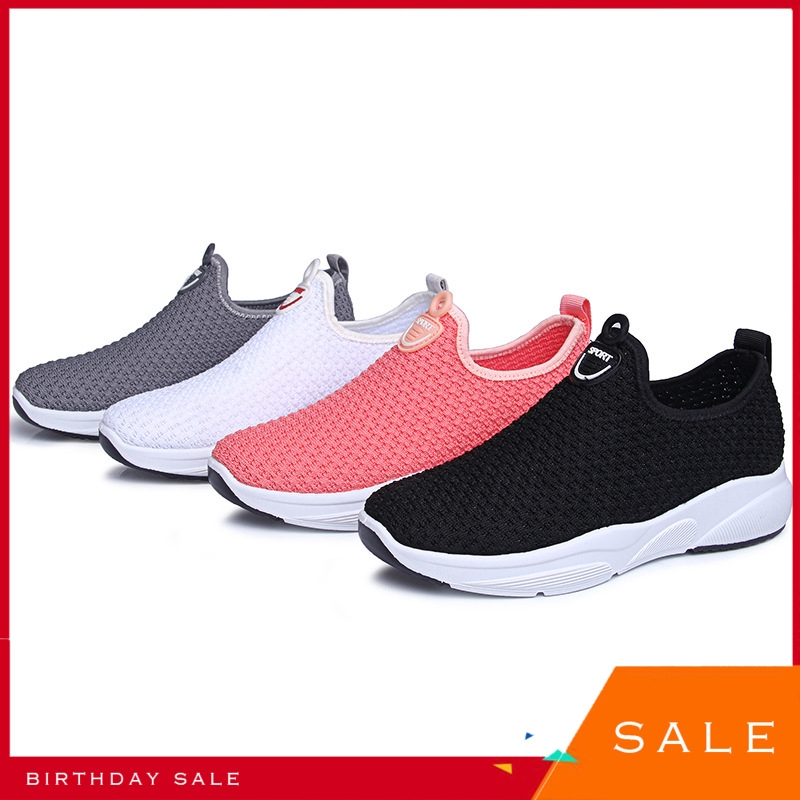 Sepatu Zi Kou All Kinds Of Shoes Elastic Force Women S Shoes Low Help Run Shoe Circle Head Single Shopee Indonesia