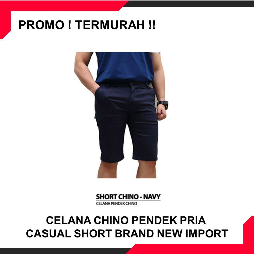 Celana Chino Pendek Impresif Malmo Shopee Indonesia Original Big Size