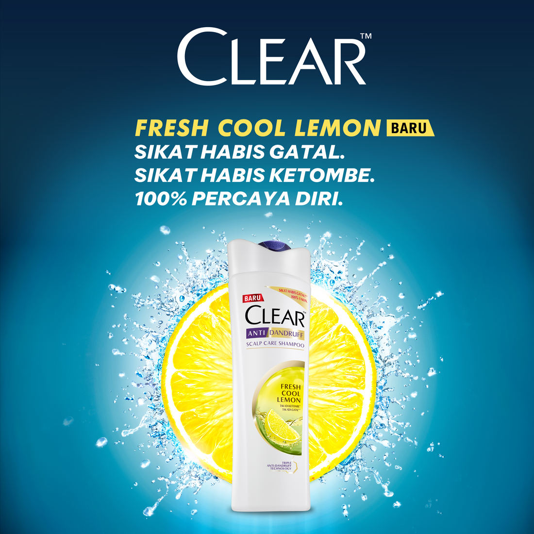 CLEAR Shampoo Anti Bacterial Fresh Cool Lemon 160 ml-3