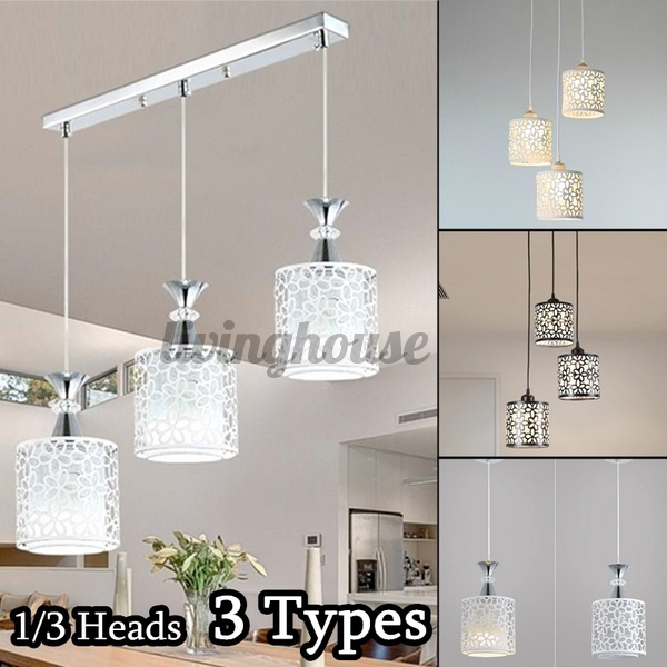 Modern Creative Flower Petal Ceiling Light Led Pendant Hanging Lamp Dining Room Chandelier New Shopee Indonesia