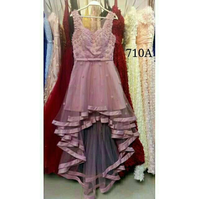 Dress Import Gaun Pesta Ekor Party Dress Bridesmaid