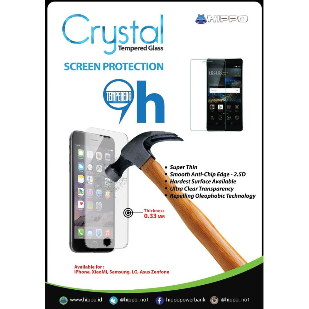Promo Hippo Tempered Glass Crystal Screen Guard Xiaomi Redmi Note 1 Ilo Cf202 Car Charger Simple Pack Fast Charging 30 Murah Shopee Indonesia