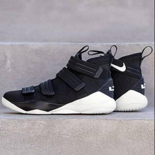 Sepatu Basket Nike Lebron Soldier 11 Black White  a2868731be