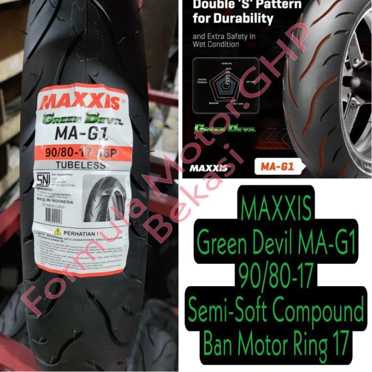 90/80-17 Ban Maxxis Green Devil MA-G1 Ban Motor Ring 17 Tubeless - Soft compound (ART. K6)