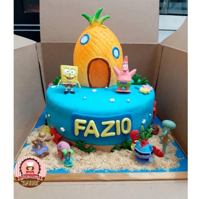 Birthday Cake Spongebob Squarepants Kue Ulang Tahun Anak Shopee Indonesia