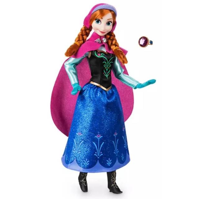 "Disney Store Frozen Queen Elsa Classic Poseable Doll Figure 12/"" w// Ring New"