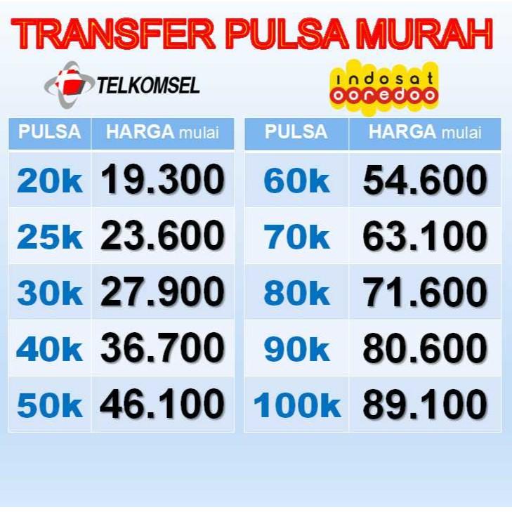 Transfer Pulsa Murah Indosat Dan Telkomsel Shopee Indonesia