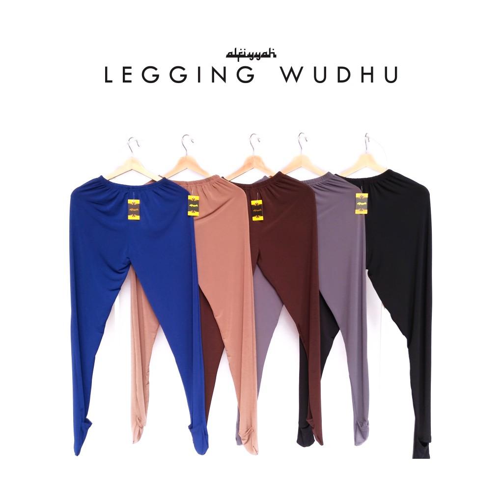Legging Wudhu Wanita Adhesi Muslimah Leging Buka Bahan Rayon Super Warna Hitam Allsize Spandex Kualitas Premium Shopee Indonesia