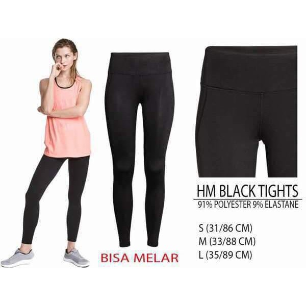 Promo Hm Black Tight Legging Celana Leging H M Legging 33556 Shopee Indonesia
