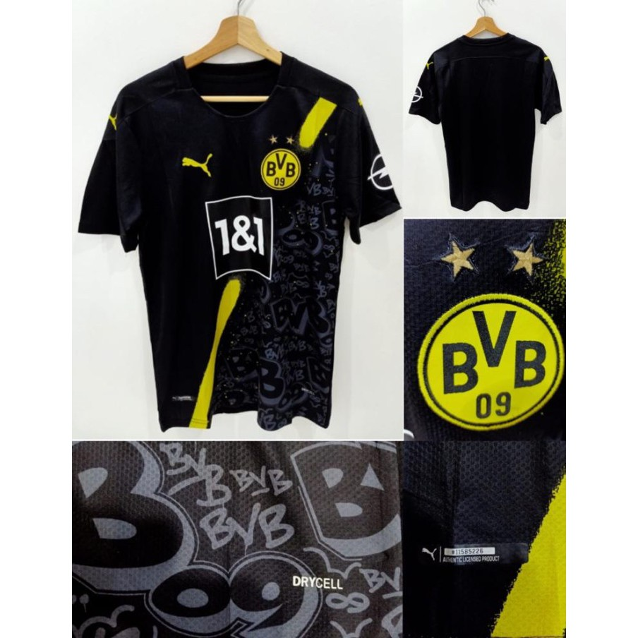 Jersey Dortmund Away 2020 2021 Grade Ori Shopee Indonesia