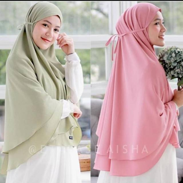 Bergo Maryam Jumbo 2 Layer Ceruty Shopee Indonesia