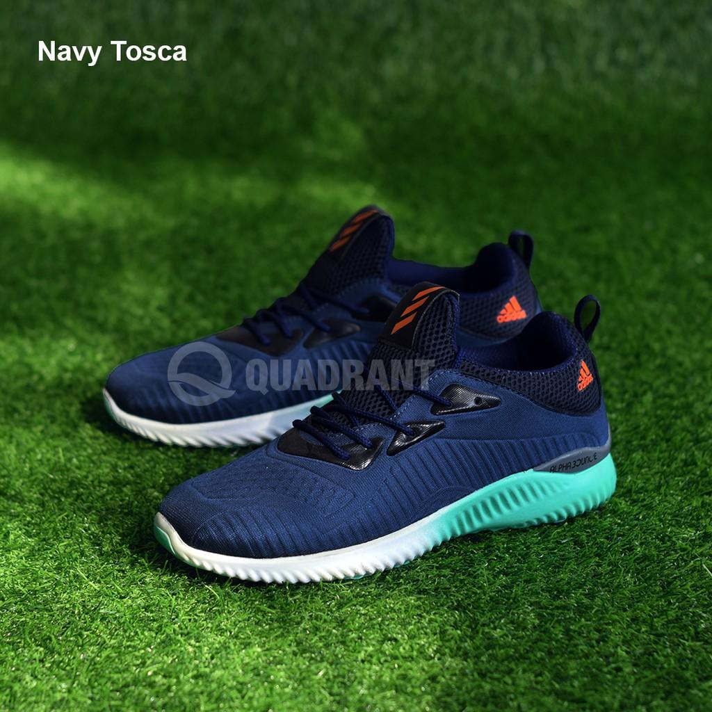 Sepatu Sneakers Adidas Alphabounce Warna Navy Tosca Putih | Shopee Indonesia