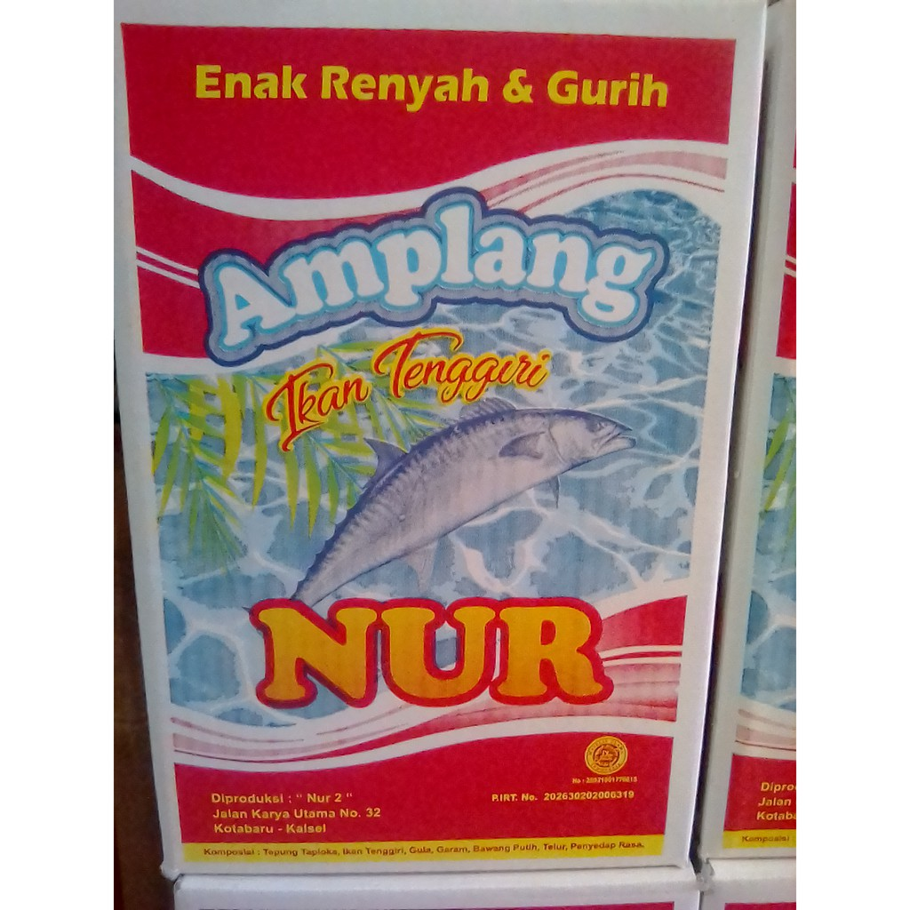 Kerupuk Amplang Ikan Tenggiri Mei Lan 1 Box Kg Khas Banjarmasin Getas Super Ii Merah Isi 2 Shopee Indonesia