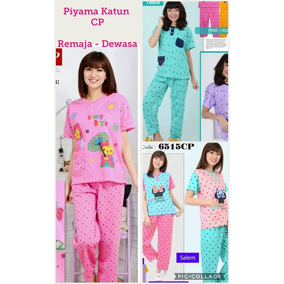 Piyama katun dewasa Cp - baju tidur katun remaja - babydolls dewasa - piyama  anak tanggung  d792396432