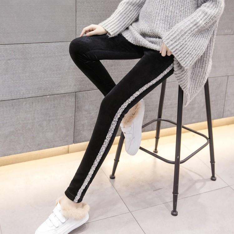 Celana Panjang Legging Leggings Velvet Beludru Hitam Pants Import Impor Celana Garis Pinggir A31353 Shopee Indonesia
