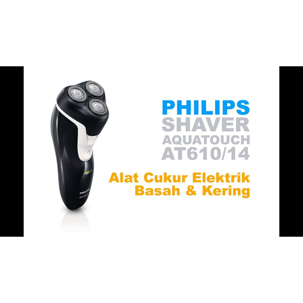 Philips Aquatouch At610 Rechargeable Electric Shaver Alat Cukur Air Pq206 Pq 206 Elektrik Pencukur Kumis Shopee Indonesia
