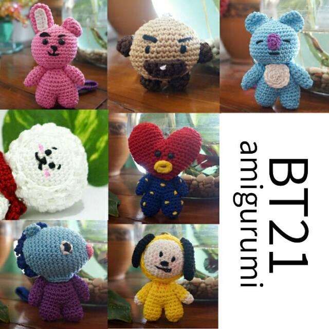 BT21 RJ Plush ♥ Crochet Pattern — MooeyAndFriends | 640x640
