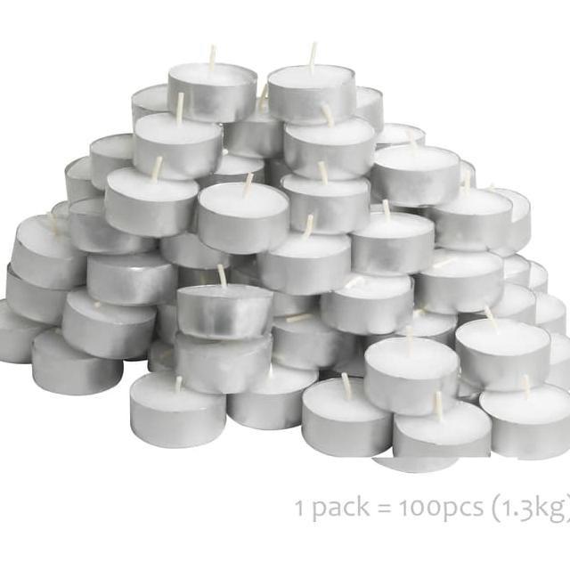 Ikea 30 New Sinnlig Candles Vanilla Pleasure Scented Tea Lights in Aluminum Cup