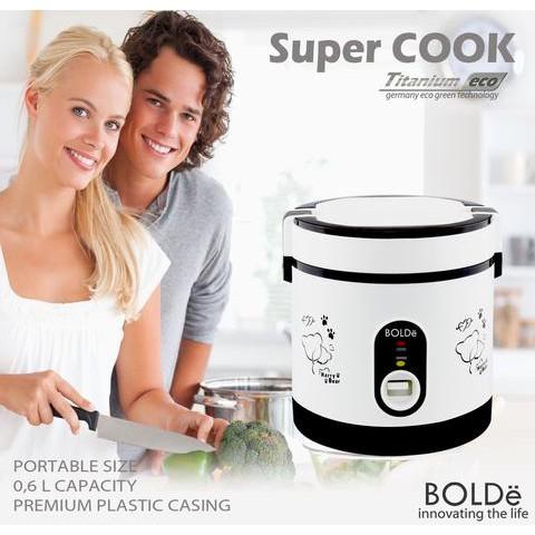 SUPER COOK BOLDE RICE COOKER PREMIUM QUALITY FUNGSI 3 IN 1 TITANIUM ECO - asontv