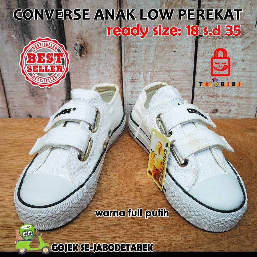 Sepatu converse motif perekat perekat anak  8678f509ea