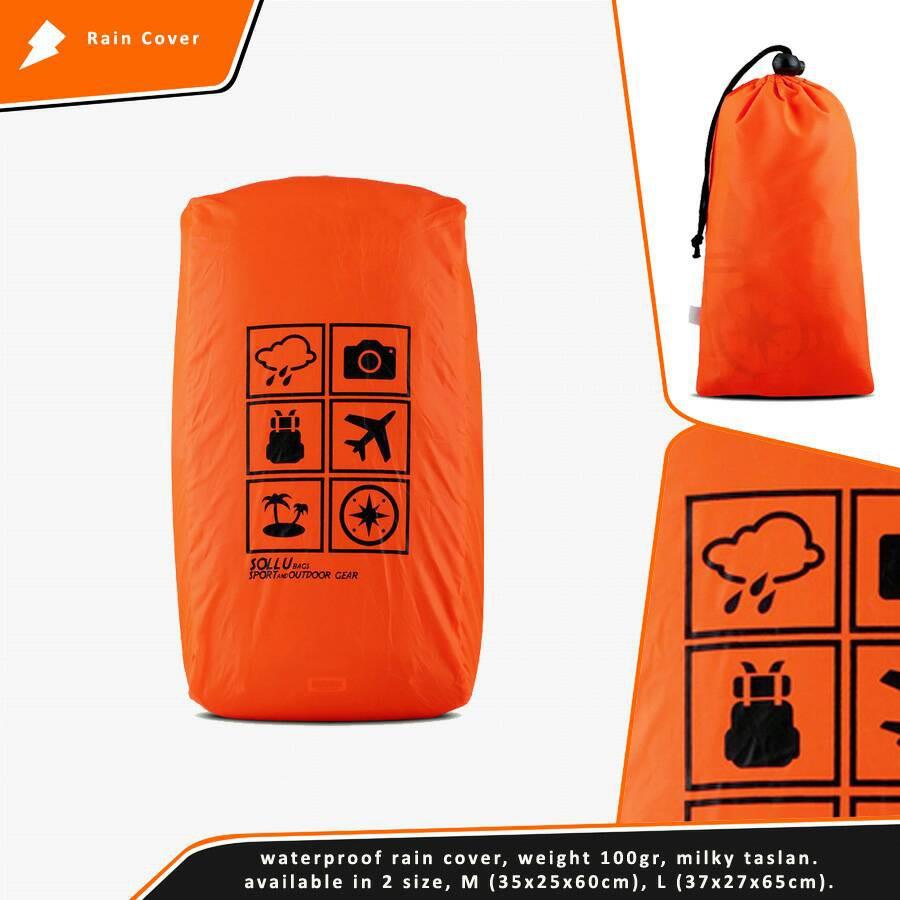 Trekking Rain Cover Bag Kapasitas 70 80l Krc 007 80 Ltr Daftar Kamoro 30 35 L Bags Atau Raincover 40lt Pelindung Tas Waterproof Shopee Indonesia