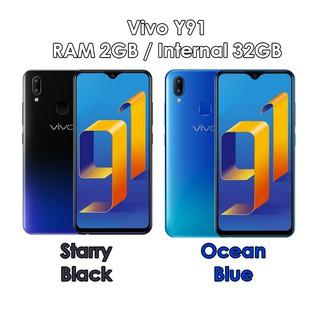 Vivo Y91 Ram 2gb Rom 32gb 2 32 Starry Black Ocean Blue Baru New Resmi