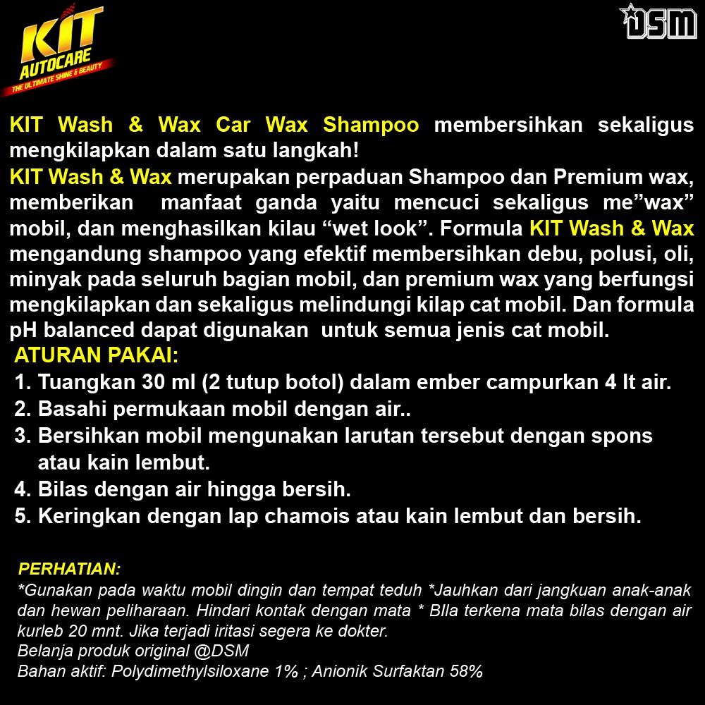 KIT Wash & Wax Shampoo 500 ml / Mencuci Sekaligus Waxing Mobil Anda / Wash and Wax Shampoo Mobil-1