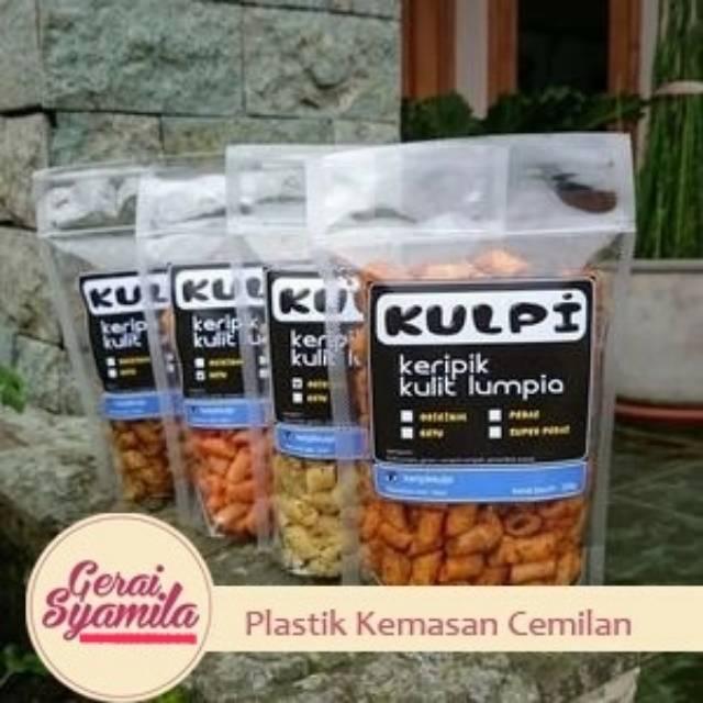 Plastik Kemasan Cemilan 10x17 Standing Pouch Seal Lebar Plastik Keripik Shopee Indonesia