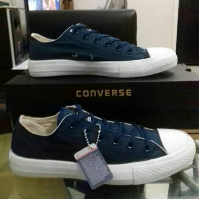 Sepatu Kets Converse Allstar Chucktaylor 70s Seventies Chili Paste High Krem  Blue Red  3d15f3536b