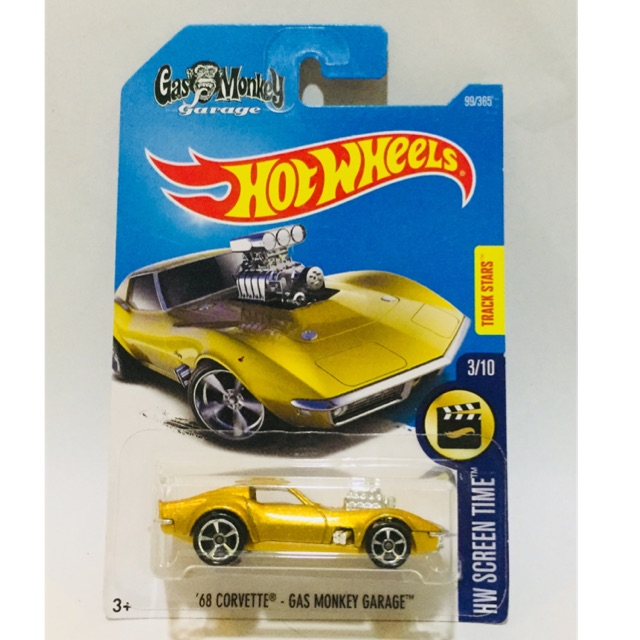 '68 Corvette - Gas Monkey Garage BIRU FLAMES - Hot Wheels HW Hotwheels | Shopee. '
