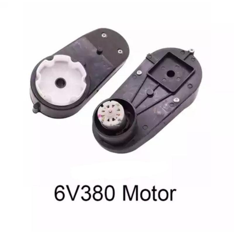 Gearbox dinamo 6V RS380 16000 Rpm Mobil mainan aki