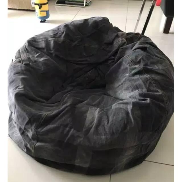 Astonishing Bean Bag Klasik Beanbag Murah Beanbag Denim Machost Co Dining Chair Design Ideas Machostcouk