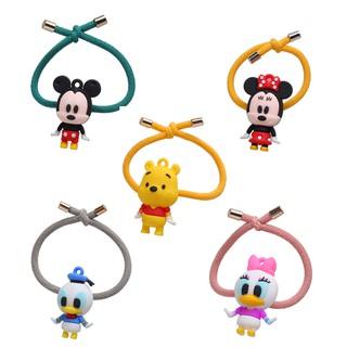 17KM Fashion Cute Cartoon Mickey Hair Rope Korean Girls Hair Band Elastic Rubber Band Women Hair Accessories thumbnail