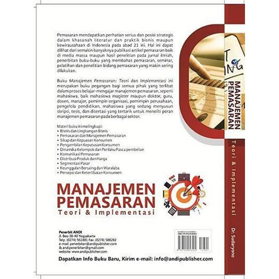 Manajemen Pemasaran Teori Dan Implementasi Andi Original Terlaris