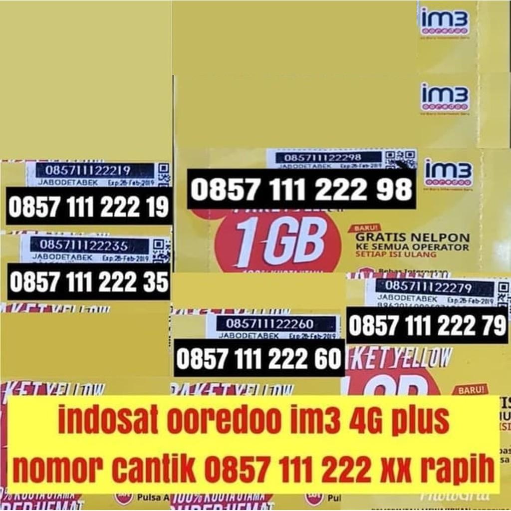 nomer cantik rapih indosat ooredoo 4G plus terbaik ! im3 bukan mentari | Shopee Indonesia