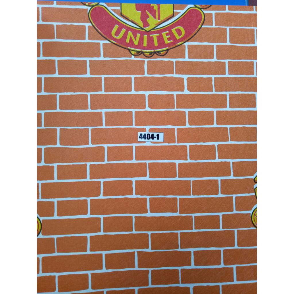Wallpaper Batu Bata Manchester United 10MX53CM Bukan Wallsticker
