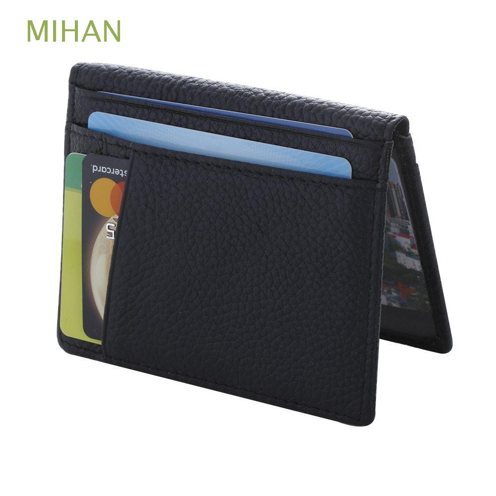 Men/'s Leather Bifold Wallet Credit ID Card Holder Mini Purse Slim Money Clip