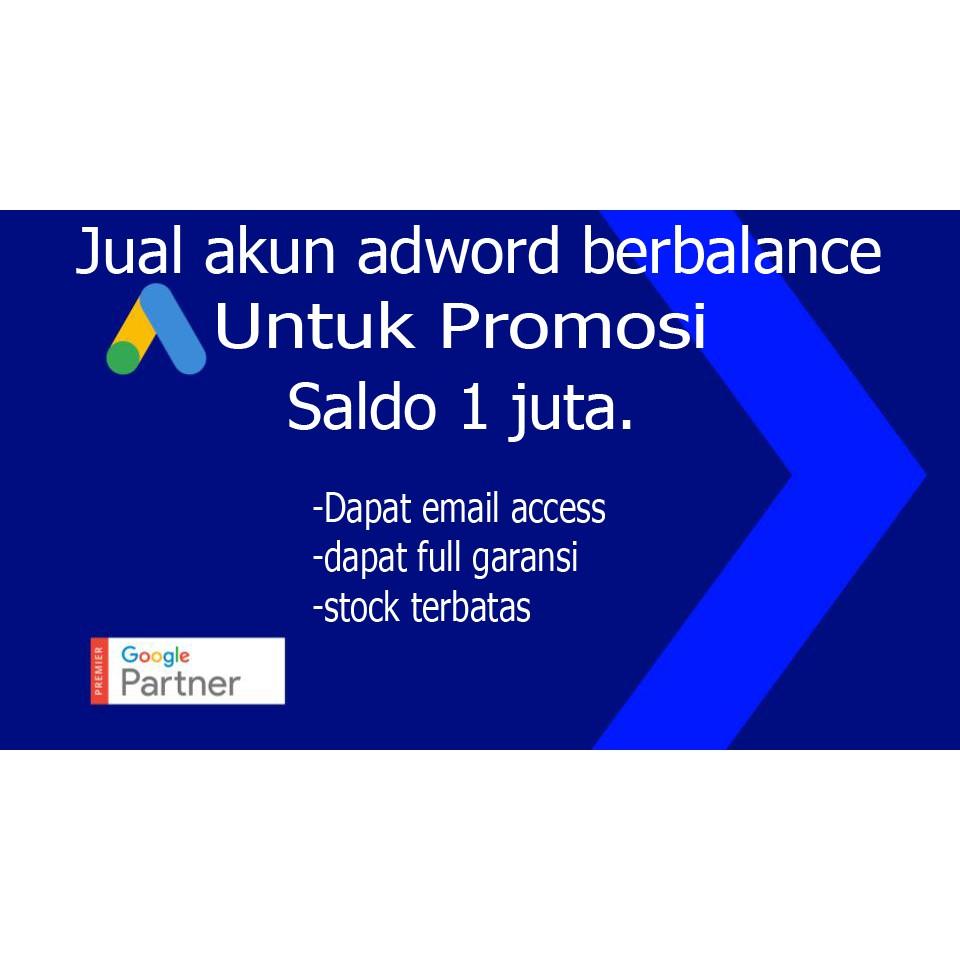 Akun Adword Adwords Google Ads Saldo Satu Juta Shopee Indonesia