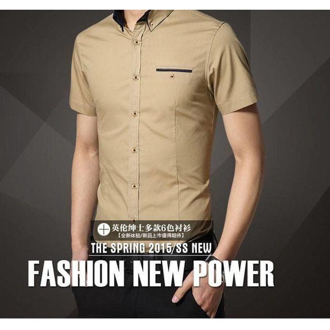 ( BigSale ) [miller army xl] pakaian pria kemeja slim fit warna army ukuran