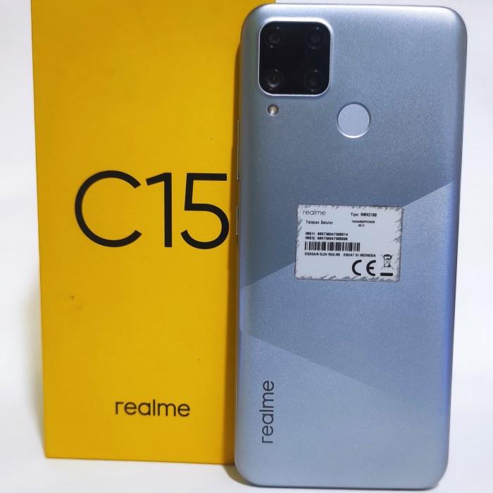 harga diskon   {rifatstore} handphone hp realme c15 464 second seken bekas murah Limited