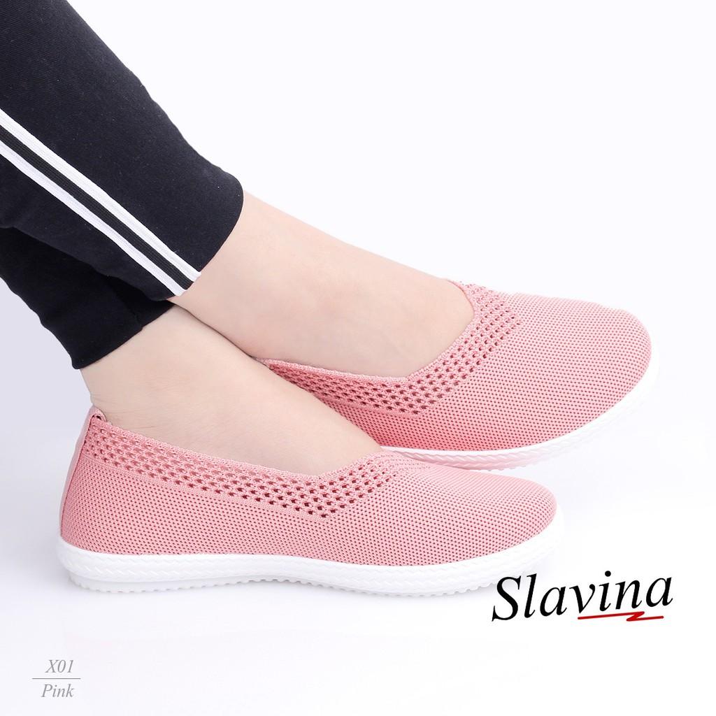 Sepatu Slavina Slip On Model Terbaru Kekinian Fashion Original